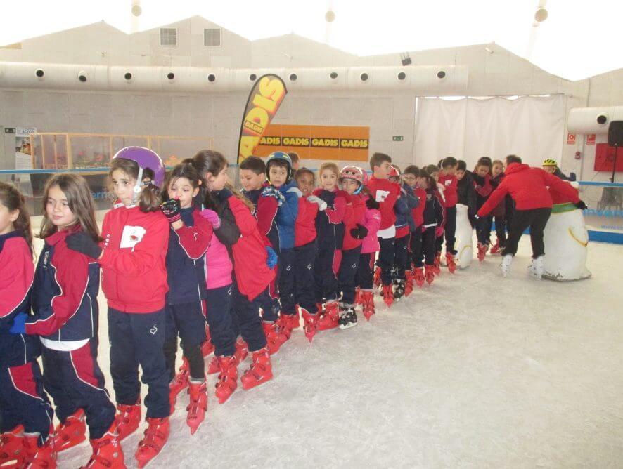 Fotos en la pista de hielo Primaria