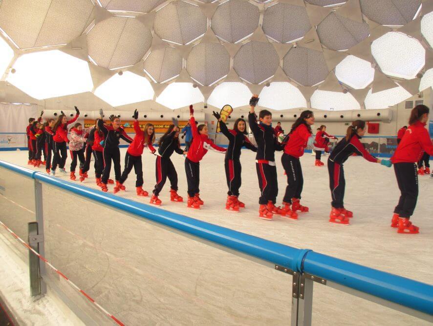 Fotos en la pista de hielo Secundaria